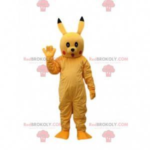 Mascota Pokémon Pikachu, la pequeña criatura amarilla de