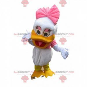 Mascote Daisy, namorada de Donald. Fantasia margarida -