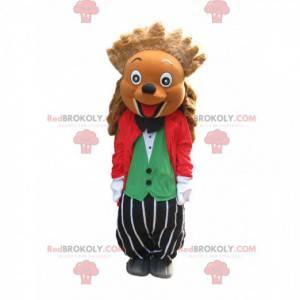 Hilariante mascote ouriço fantasiado e - Redbrokoly.com