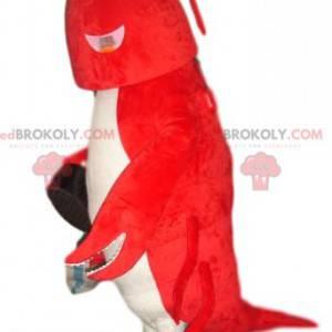 Velmi zábavný maskot červeného a bílého humra - Redbrokoly.com