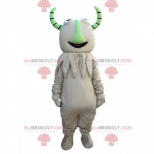 Funny monster mascot with green horns - Redbrokoly.com