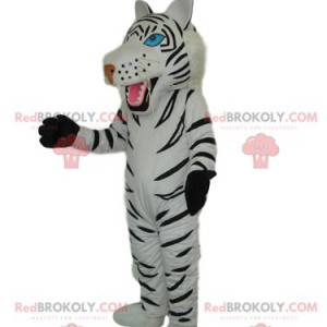 White tiger mascot with beautiful blue eyes - Redbrokoly.com