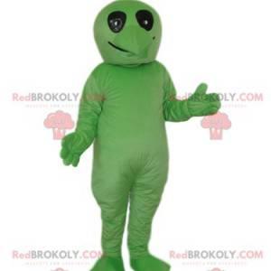 Zelený mimozemský maskot s černýma očima - Redbrokoly.com