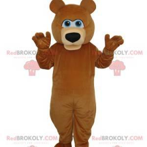 Maskot medvěd hnědý s krásnou černou tlamou - Redbrokoly.com