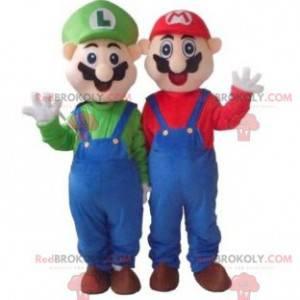 Mascot Mario y Luigi famosos personajes de videojuegos -