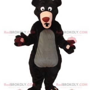 Maskot medvěd hnědý s velkou červenou tlamou - Redbrokoly.com