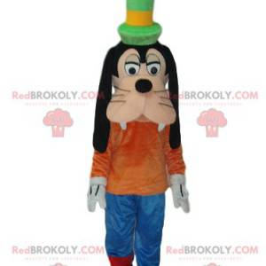 Mascotte sciocca con il suo cappello a cilindro verde. -