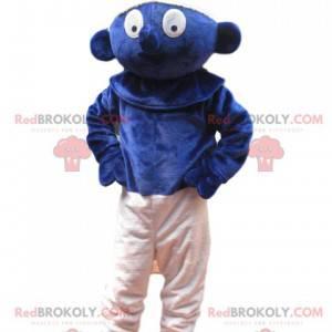Smurf maskot med et forundret look - Redbrokoly.com