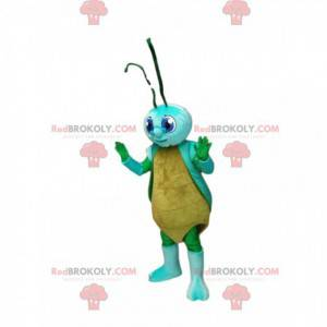 Maskot žlutá a modrá cikáda. Kostým cikáda - Redbrokoly.com