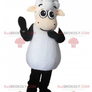 Mascote ovelha preta e branca - Redbrokoly.com