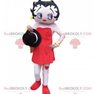 Betty Boop Maskottchen mit einem schönen roten Kleid -