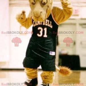 Brown dromedary camel mascot in sportswear - Redbrokoly.com