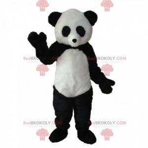 Svart og hvit panda maskot. Panda kostyme - Redbrokoly.com