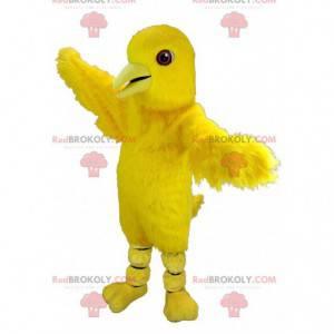 Giant canary yellow bird mascot - Redbrokoly.com