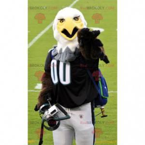 Hnědý a bílý orel maskot ve sportovním oblečení - Redbrokoly.com