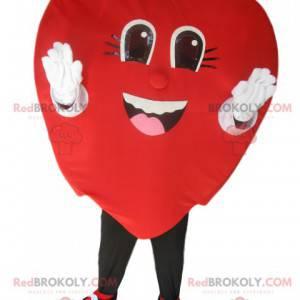 Rotes Samtherzmaskottchen sehr lächelnd - Redbrokoly.com