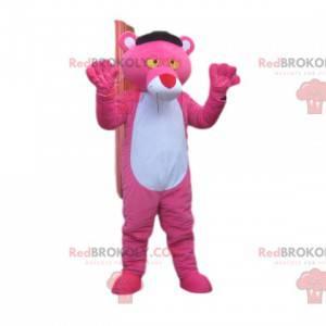 Maskottchen des Pink Panther mit einer großen roten Nase -