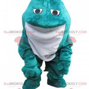 Blue and white velvet frog mascot - Redbrokoly.com