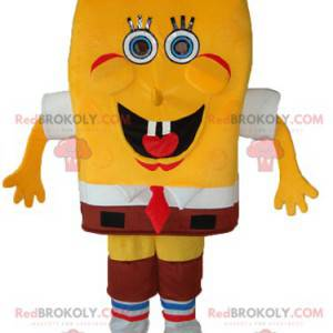 Mascote Bob Esponja, a esponja amarela hilariante -