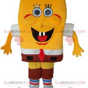 Maskottchen SpongeBob, der lustige gelbe Schwamm -