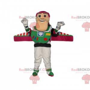 Maskot Buzz Lightyear, super zábavný kosmonaut z Toy Story -