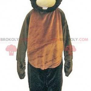 Gigantisk og morsom brun og svart bjørnemaskot - Redbrokoly.com
