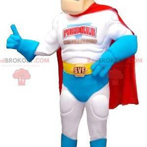 Mascota de superhéroe rubio y musculoso - Redbrokoly.com