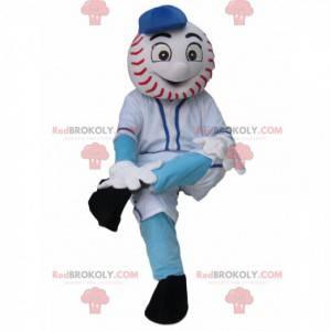 Schneemann Maskottchen mit einem Baseballkopf - Redbrokoly.com