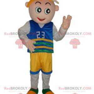 Malý chlapec maskot s fanouškem oblečení - Redbrokoly.com
