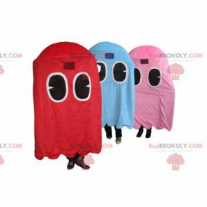 Trio of mascot ghosts of Pacman, the famous video game! -