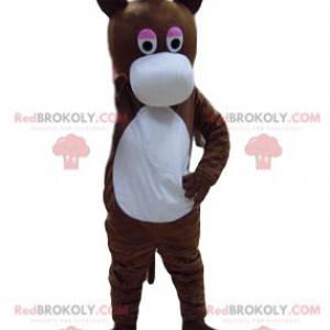 Brown donkey mascot with a big white muzzle - Redbrokoly.com