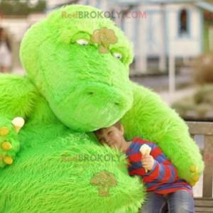 Green monster dinosaur dragon mascot - Redbrokoly.com