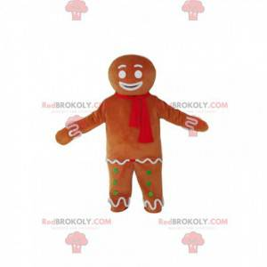 Gingerbread man mascot with a red scarf - Redbrokoly.com