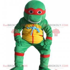 Maskot v podřepu Leonardo, želvy ninja. - Redbrokoly.com
