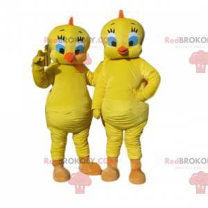 Duo di mascotte Titi, dal cartone animato Titi & Grosminet -