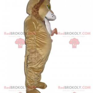 Löwenmaskottchen mit einer hübschen lockigen Mähne -