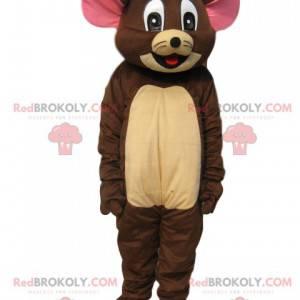 Mascot Jerry, el bonito ratón de la caricatura Tom & Jerry -