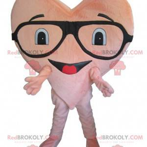 Giant pink heart mascot - Redbrokoly.com