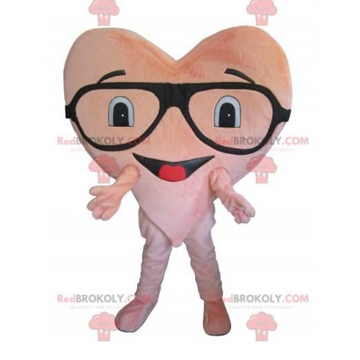 Maskot obří růžové srdce - Redbrokoly.com