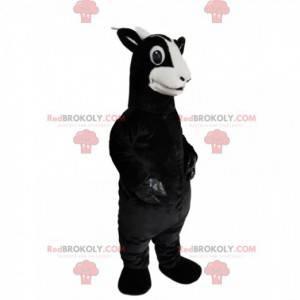 Mascotte di capra nera con un bellissimo aspetto -