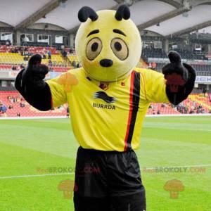 Maskot žlutá a černá panda - maskot žluté hmyzu - Redbrokoly.com