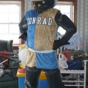 Mascote colorido do cavaleiro com um capacete - Redbrokoly.com