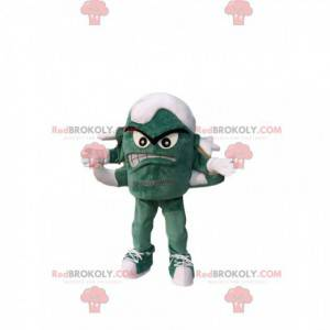 Mascot little green monster with several legs. - Redbrokoly.com