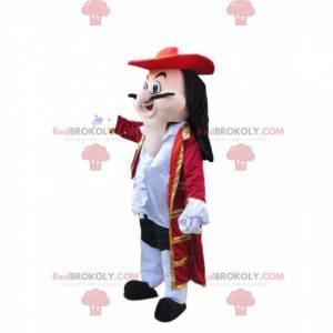 Maskot Captain Hook s nádherným červeným kabátem -