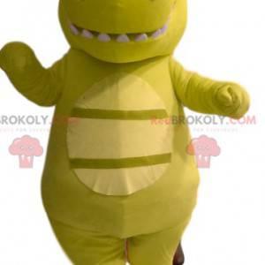 Green dinosaur mascot with a funny head - Redbrokoly.com