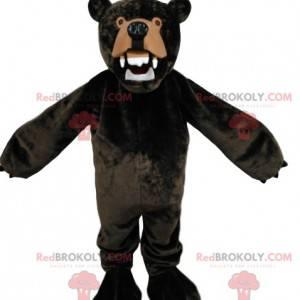 Very angry brown bear mascot. Brown bear costume -
