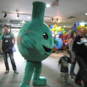 Big green and smiling mascot - Redbrokoly.com