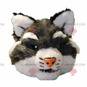 Testa di mascotte gatto selvatico grigio - Redbrokoly.com