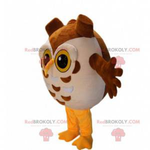Maskot žluté a hnědé sovy všude kolem - Redbrokoly.com