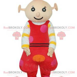 Mascot little alien, with red dungarees - Redbrokoly.com